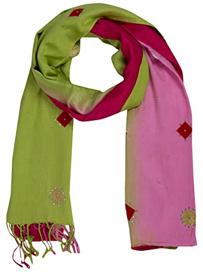 eca2dda8f9cd7 PSS Premium Quality Hand Crafted Multi-Color All Season Designer Party Scarf  Stoles for women Girls Soft Cotton Trendy Scarves/Stoles at Amazon Women's  ...