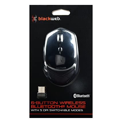 cdc7daa3878 Amazon.com: Blackweb 6-Button Wireless Bluetooth Mouse - Black: Electronics