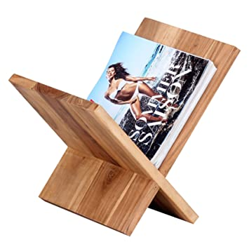 Zeitungsständer Holz wohnling zeitungsständer massivholz akazie x form 31 cm