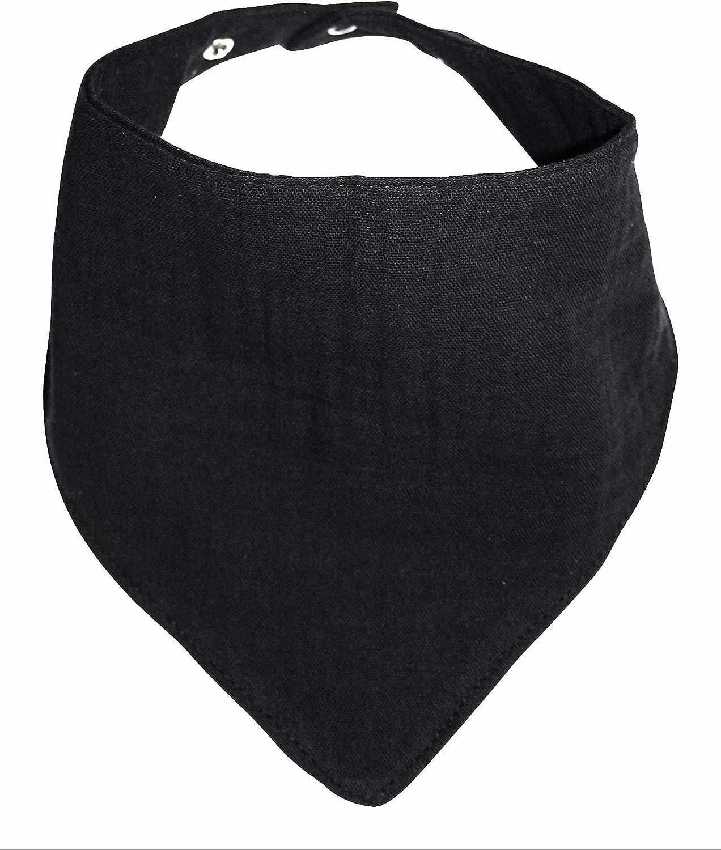 3 Musselinhalst/ücher aus 100/% Baumwolle Dreieckstuch Spucktuch Sabberl/ätzchen Halstuch 0-18 Monate