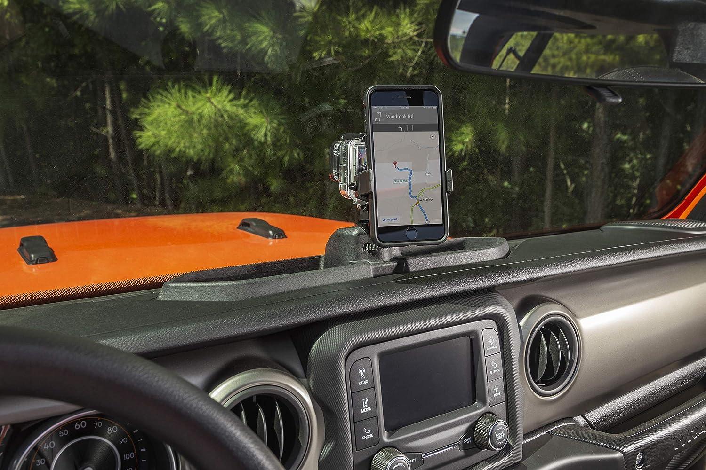 Black//Red CheroCar JK Cellphone Dash Multi-Mount Phone Holder Stoage Tray System Kit fits for 2007-2011 Jeep Wrangler JK JKU Organizer Box Interior Accessories