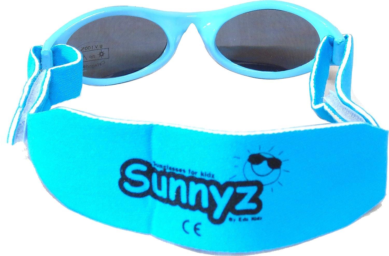 Schwarz AC60 Sunnyz Sonnenbrille f/ür Babys unter 2 Jahren Mit Kopfband!