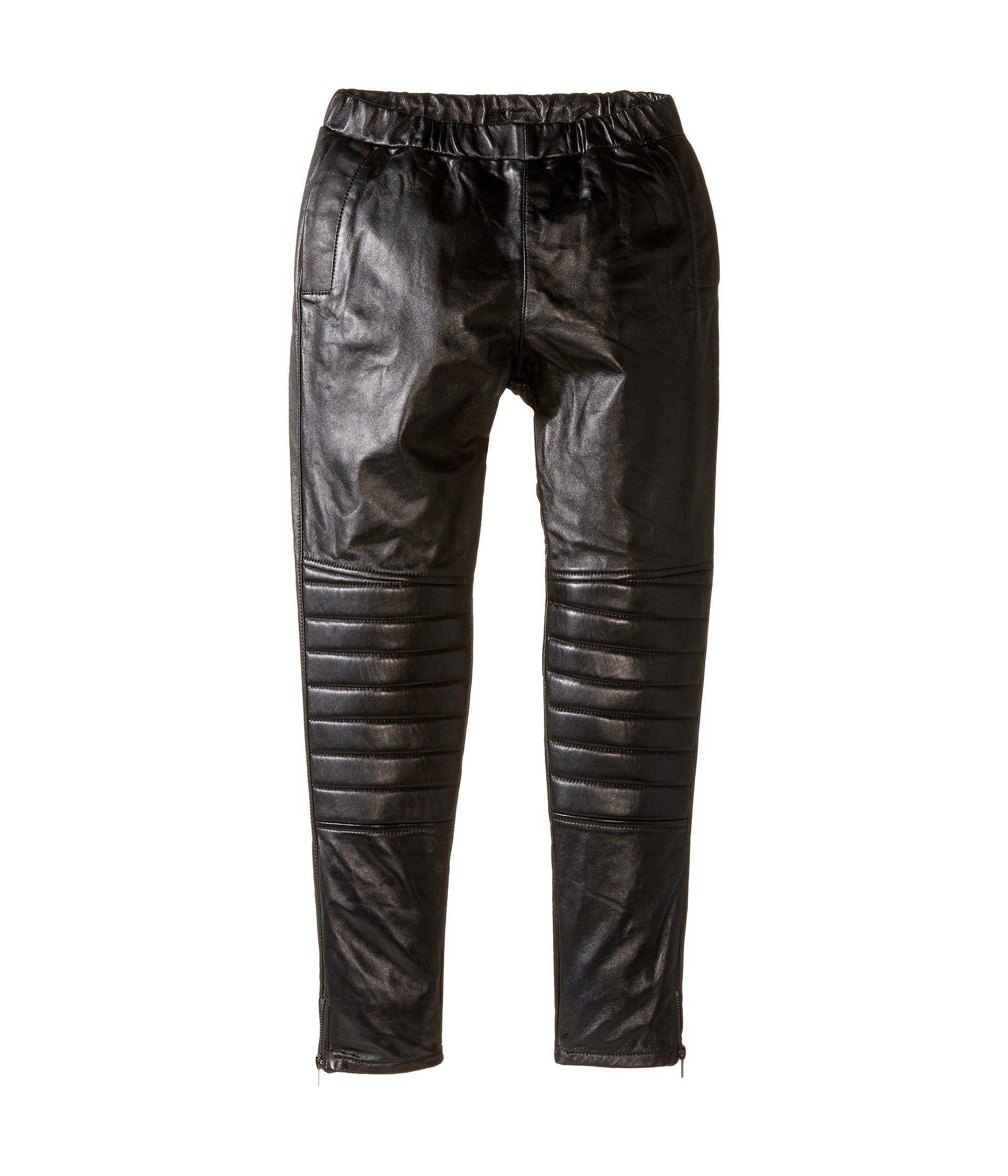 Unisex Leather Harem Pants (Little Kids/Big Kids) Black 9 Big Kids X One Size