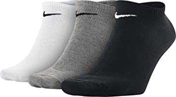 Nike 3Ppk Value Pack 3 Calcetines para hombre, Multicolor (Negro/blanco/gris