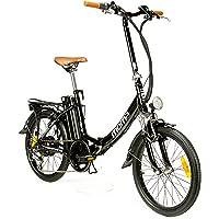 """Moma Bikes Vélo Electrique VAE Pliant De ville, E-20"""", Aluminium, SHIMANO 7V, Bat. Ion Lithium 36V 16Ah"""
