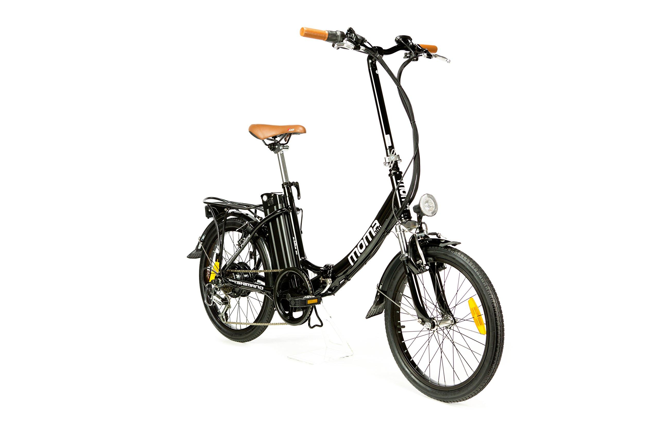 "Moma Bikes Vélo Electrique VAE Pliant De ville, E-20"", Aluminium, SHIMANO 7V, Bat. Ion Lithium 36V 16Ah product image"