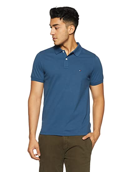 TOMMY HILFIGER Men's Plain Slim Fit Polo
