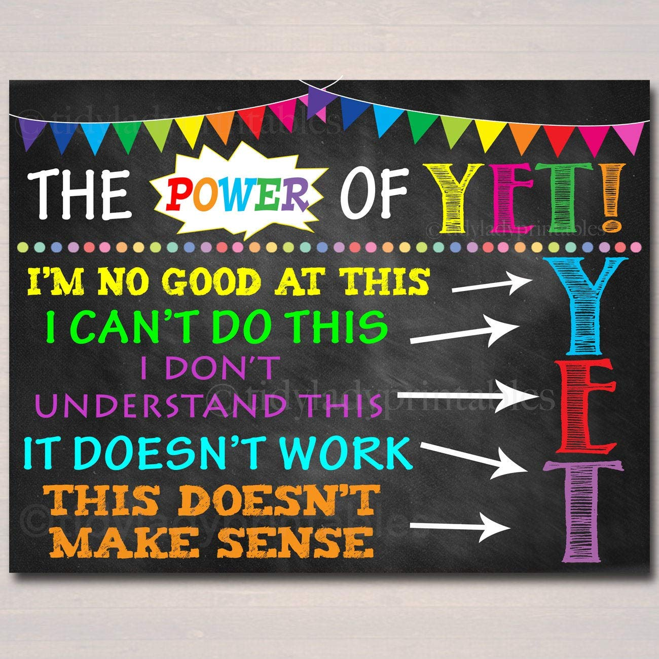 graphic about Printable Posters titled : Mini Wooden The Electric power of However Printable Poster