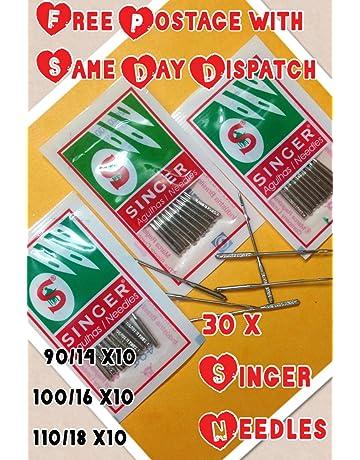 3 lotes de 10 agujas para máquina de coser doméstica, marca