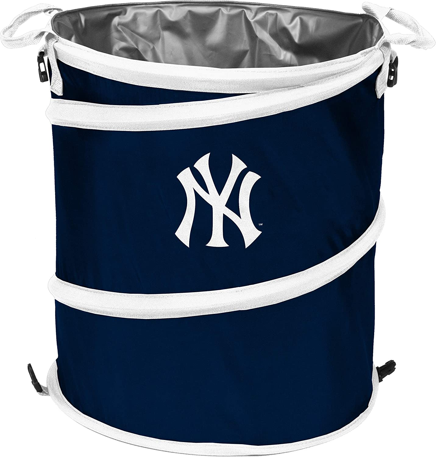 Logo Brands NCAA New York Yankees Collapsible 3-in-1 Trash Can, Team Color, One Size