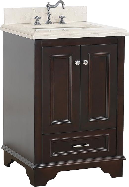 Amazon Com Nantucket 24 Inch Bathroom Vanity Crema Marfil