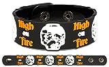 HIGH ON FIRE Rubber Bracelet Wristband Luminiferous