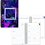 """BLUELINE Weekly/Monthly Academic Planner, July 2021 to July 2022, Twin-Wire Binding, Printed Cover, 8"""" x 5"""", Neon Design, Pur"""