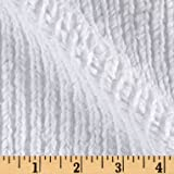 Shannon Minky Luxe Cuddle Chenille Snow White Fabric By The Yard