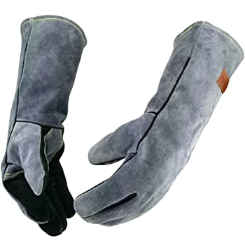 WZQH Leather BBQ Gloves