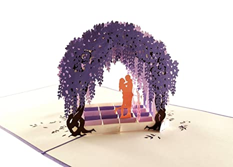Amazon Com Igifts And Cards Romantic Wisteria Arbor 3d Pop Up