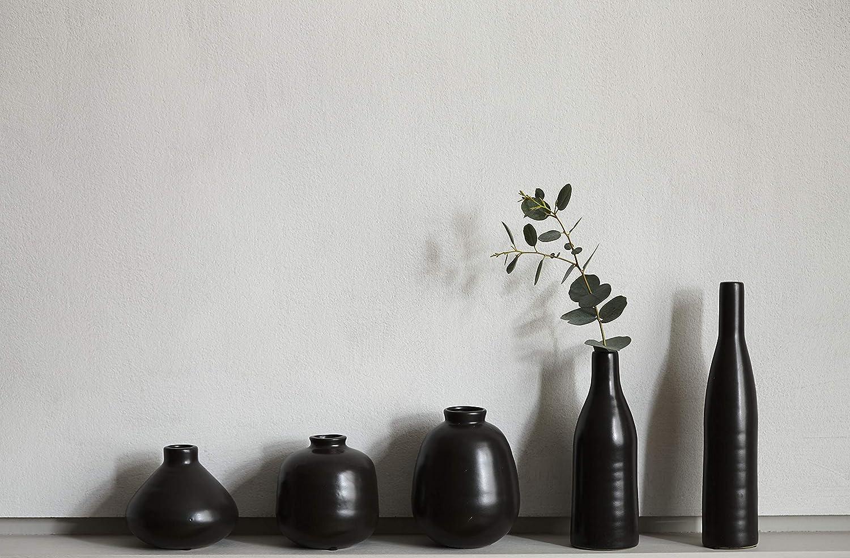 Canvas Home Morandi Petit vase en forme de bouteille Noir