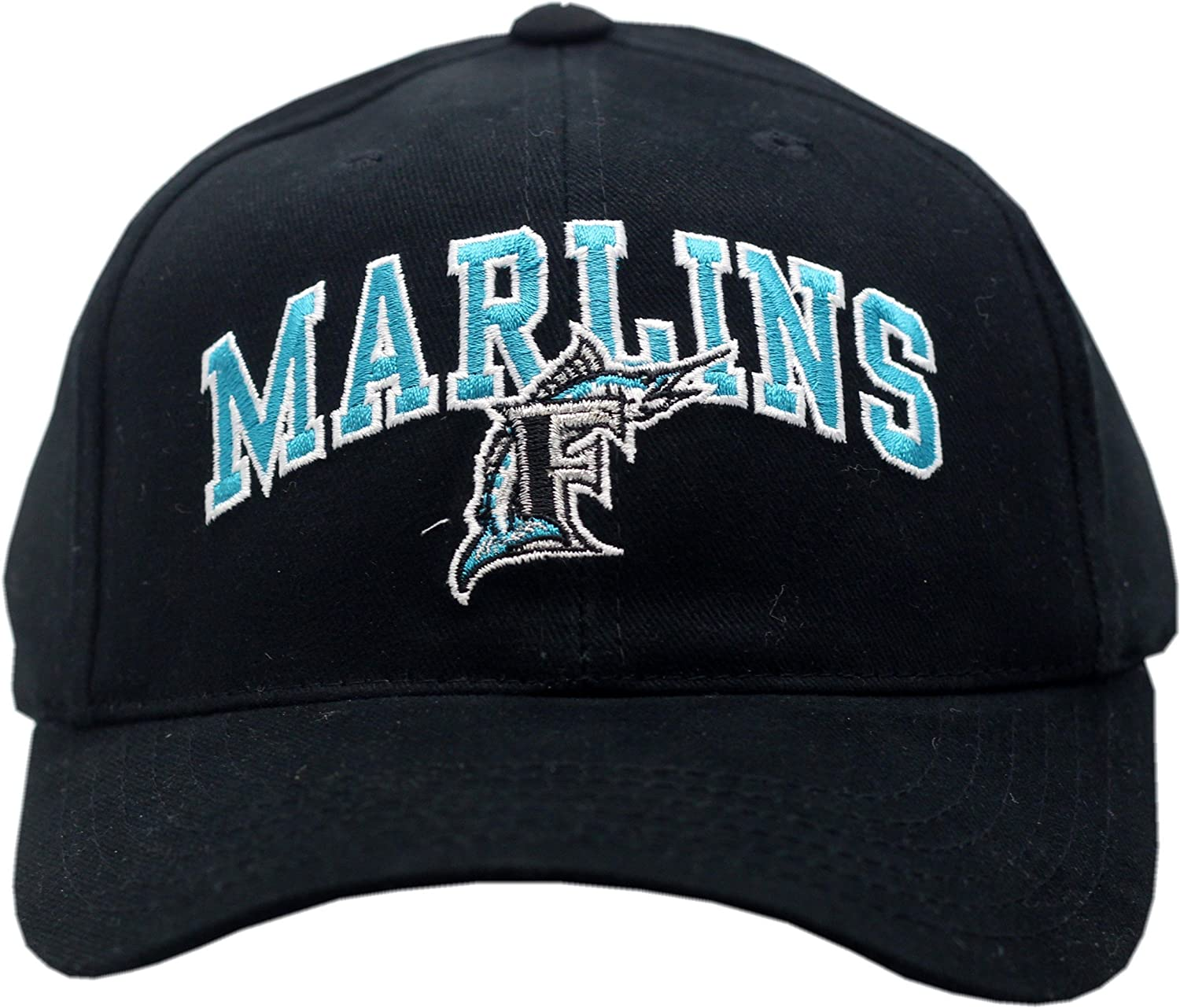 6d84083214 Amazon.com   Florida Marlins Youth Snapback Hat Arched Logo 11765   Sports    Outdoors