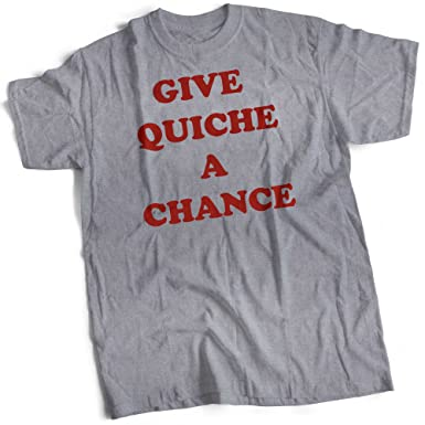 427ae57126 bybulldog Give Quiche A Chance Mens Premium T-Shirt Heather Grey Small to  3XL: Amazon.co.uk: Clothing