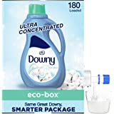 Downy Eco-box Ultra Concentrated Liquid Laundry Fabric Softener (Fabric Conditioner), Cool Cotton, 180 Loads, 3.1 L
