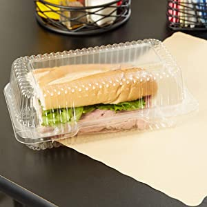 50 Plastic Takeout Clamshell Food Containers | 9