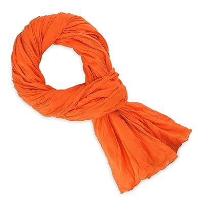 Chèche coton orange uni  Amazon.fr  Vêtements et accessoires 20d1cc1c778