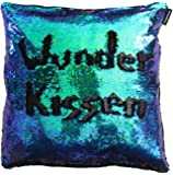 Miracle–Le coussin original Housse de coussin avec paillettes, sequins Mermaid Pillow, 1000Coussin dans un Bleu sarcelle