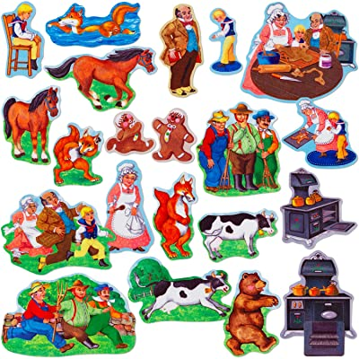 Little Folk Visuals Gingerbread Boy Precut Flannel/Felt Board Figures, 23 Pieces Set: Toys & Games [5Bkhe1402671]
