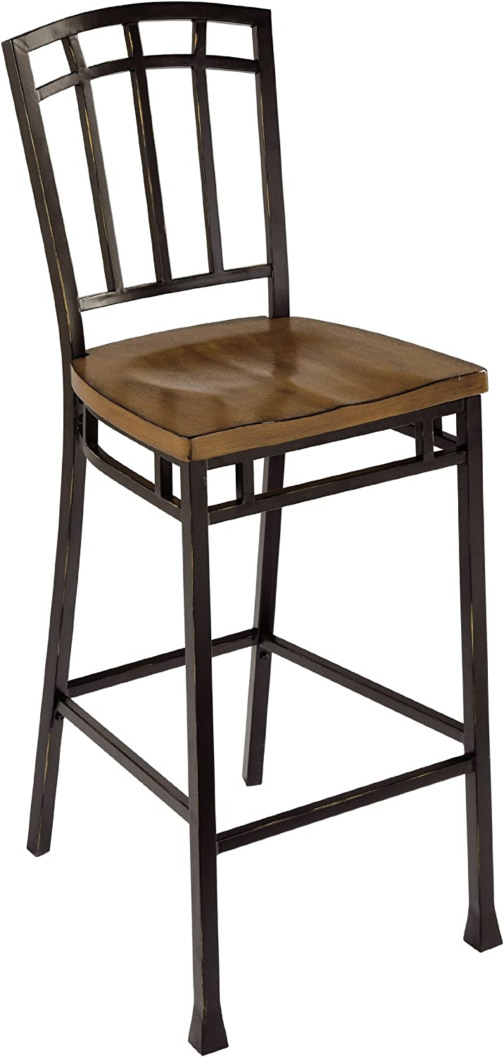 Modern Craftsman Oak Bistro Stool by Home Styles
