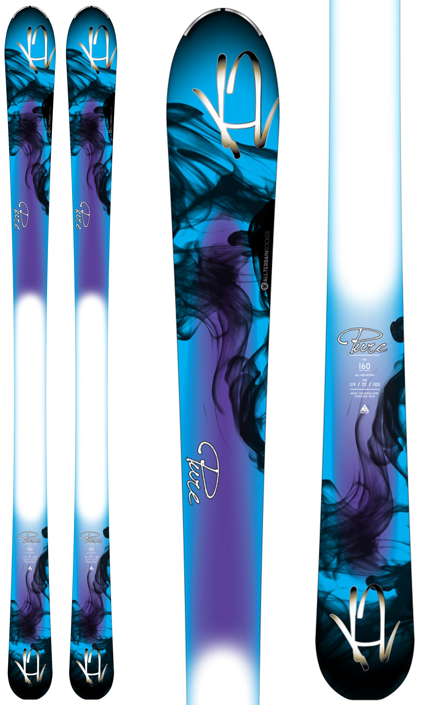 K2 Pure Skis Girls