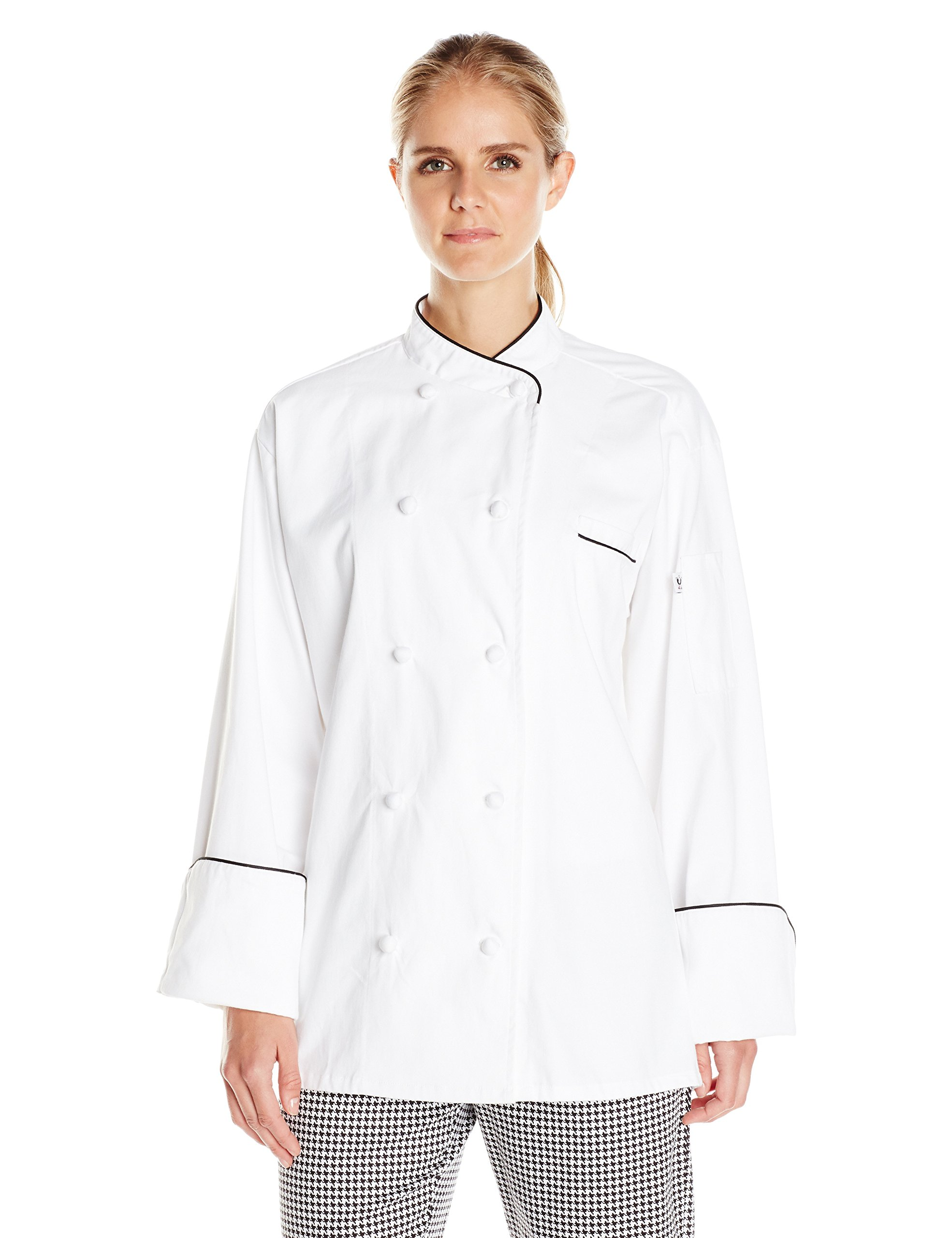 Uncommon Threads Unisex  San Marco, White/Black Piping, X-Small