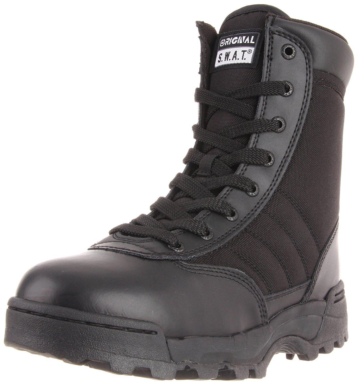 TALLA 46 EU. Original SWAT Einsatzstiefel 1152 Side Zip - Calzado de Zapatillas de Senderismo para Mujer