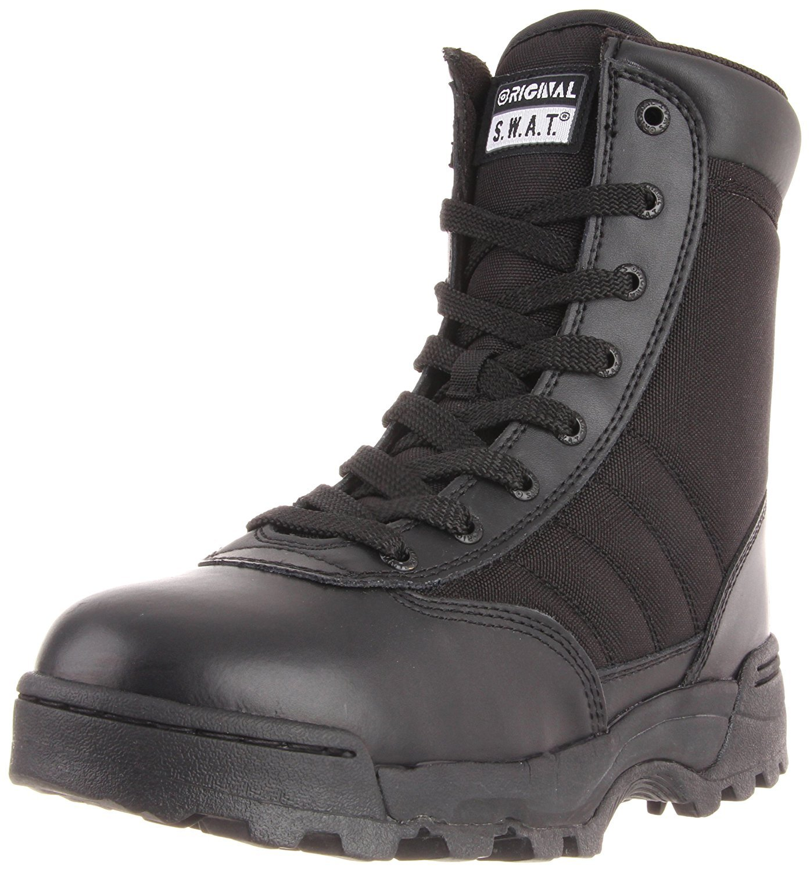 Original S.W.A.T. Men's Classic 9'' Side Zip Work Boot,Black,12 W US
