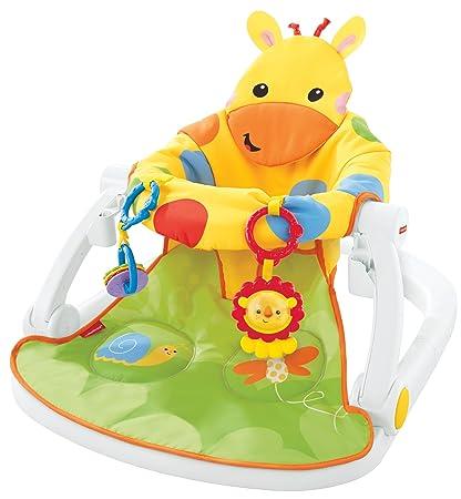 Fisher-Price DJD81 Asiento en Forma de Jirafa para bebé, portátil, con Bandeja