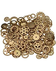 200 Gram Assorted Vintage Bronce Metal Steampunk Jewelry Making Charms rueda del reloj Cog