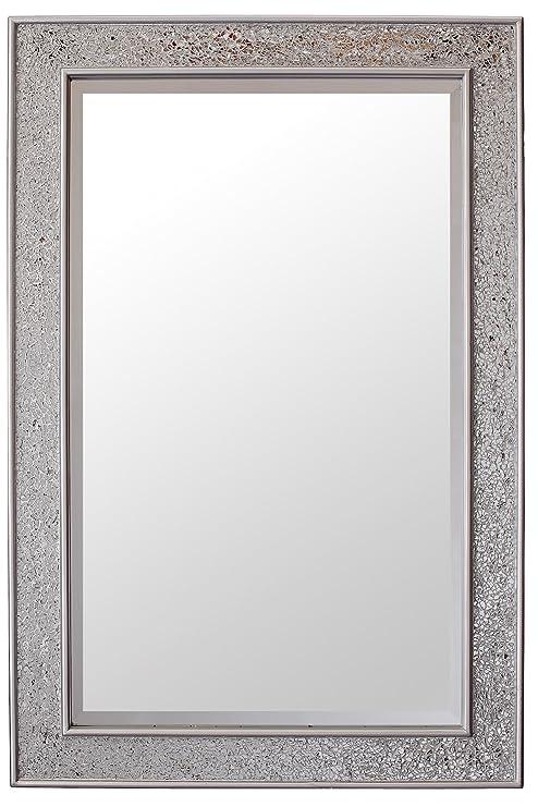 Glamour by Casa Chic Specchio Mosaico - Argento - Legno - Grandi ...