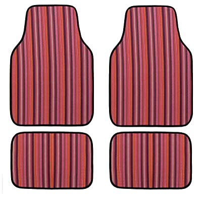 CAR PASS New Arrival Waterproof Universal Ethnic Car Floor Mats, Set Of 4, Fit For Suvs,Vans,Sedans,Trucks: Automotive