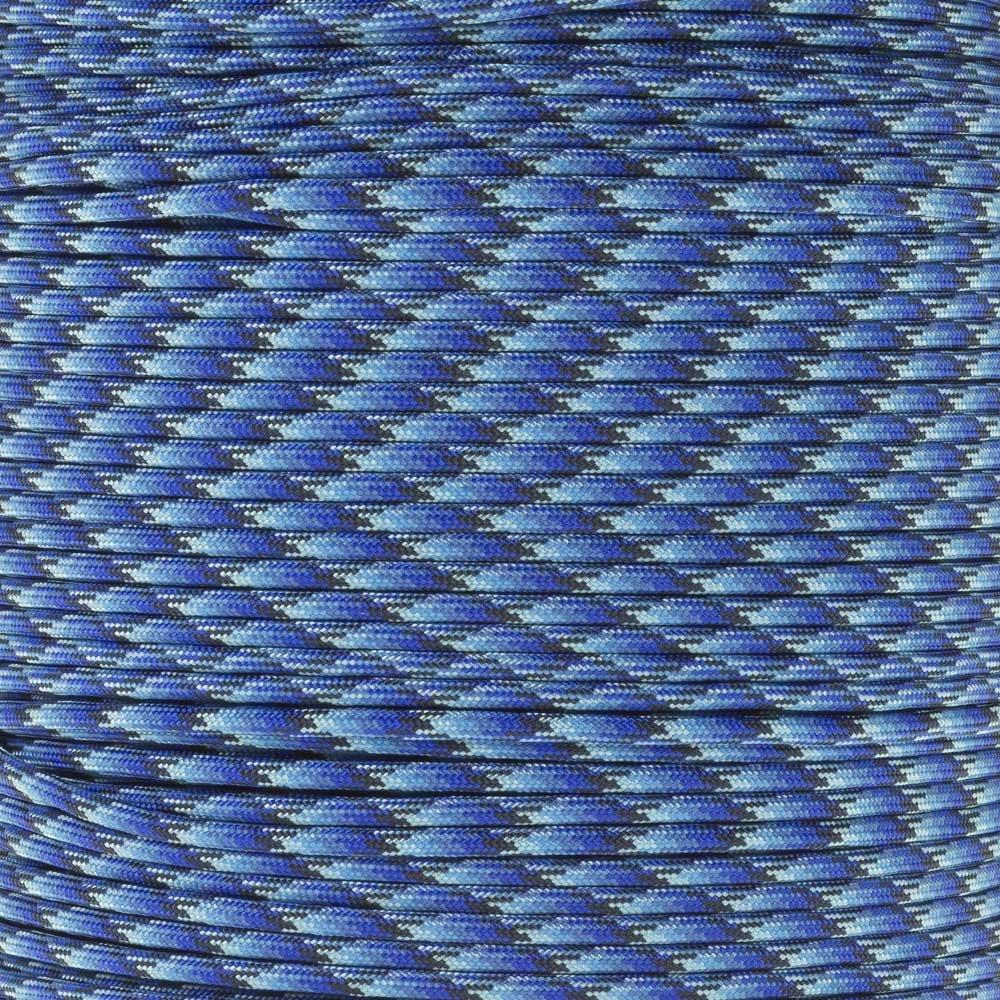 Paracord Planet 550ポンドタイプIII 7ストランド4 mm Tacticalコードで10、20、25、50、100、フィートの選択肢Hanksまたは250 & 1000足スプールwith 3 / 8インチブラックバックル – Over 300色から選択 B075NQ7RBT Blue Blend 250 Feet w/ 25 Buckles 250 Feet w/ 25 Buckles|Blue Blend