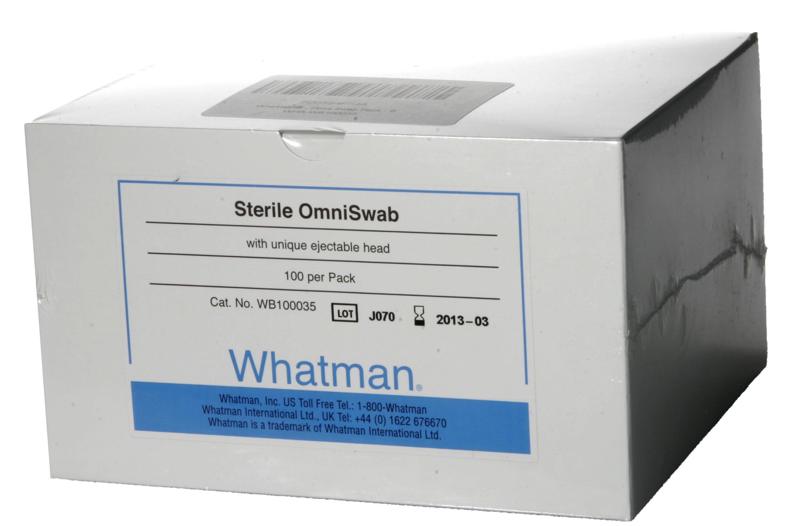 Whatman WB100035 Omni Swab Pack Buccal Swab Sterile (Pack of 100) by Whatman