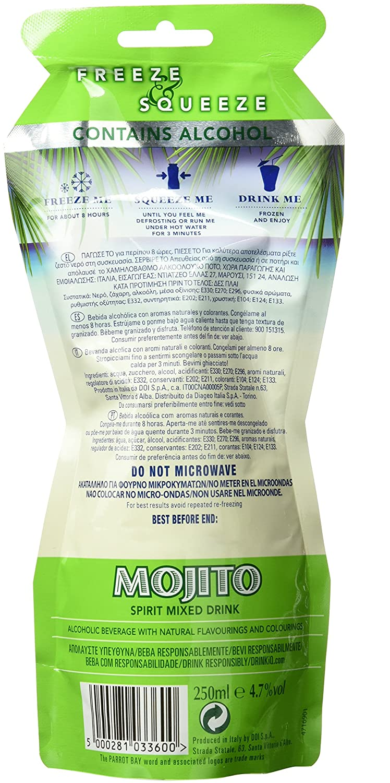 Parrot Bay Mojito Cocktail Bebida Alcohólica con Aromas Naturales - 25 cl: Amazon.es: Amazon Pantry
