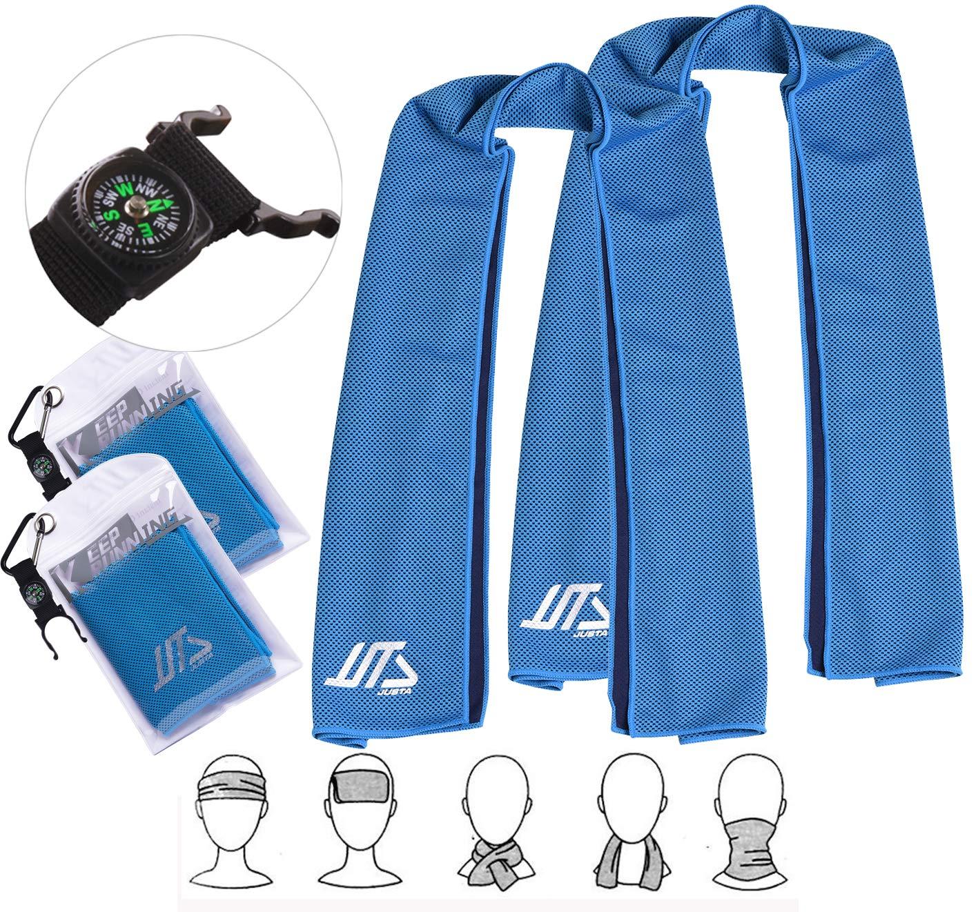 30 cm Qshare Toalla de enfriamiento instant/áneo Toallas de enfriamiento s/úper absorbentes para Deportes y Ejercicios 100