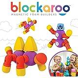 Blockaroo Magnetic Foam Building Blocks - STEM Construction Toy for Girls & Boys, Soft Foam Blocks Develop Early…
