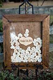 Amazon.com: Wedding Guest Book Alternative - Heart Drop