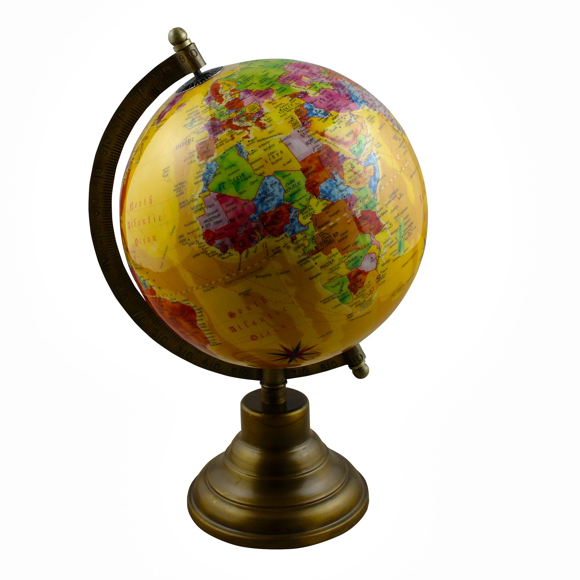 Desktop World Globe Earth Map with Stand - Perfect Gift for Home Office Desk Tabletop Decoration - Stock Clearance Sale!!