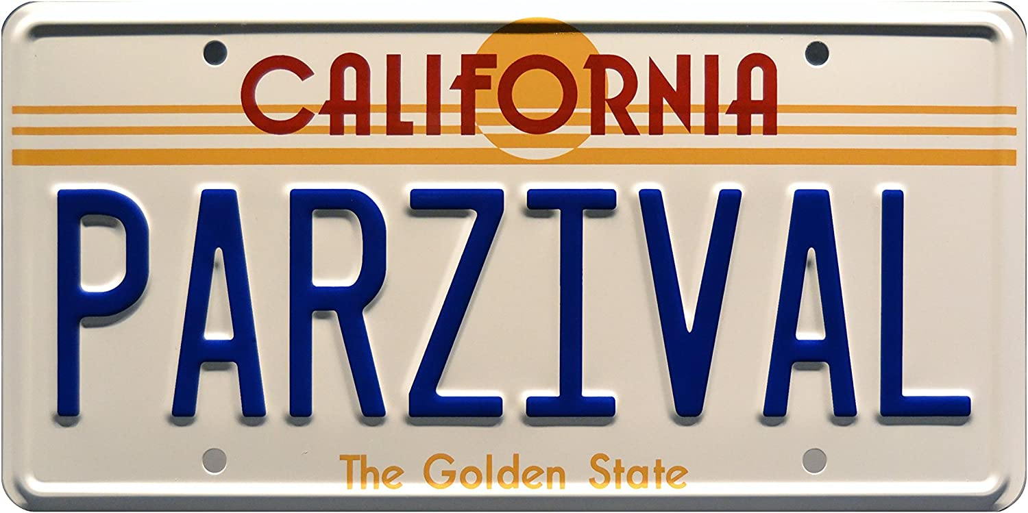 Celebrity Machines Ready Player One | PARZIVAL | Metal Stamped License Plate
