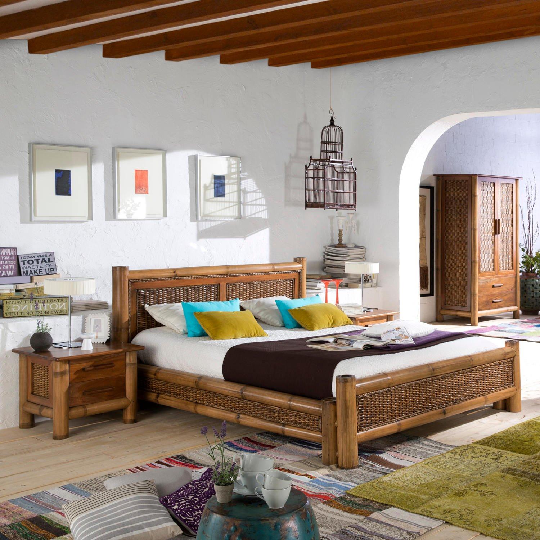 kolonial bett 180x200 natur bambus bett kolonialstil m bel. Black Bedroom Furniture Sets. Home Design Ideas
