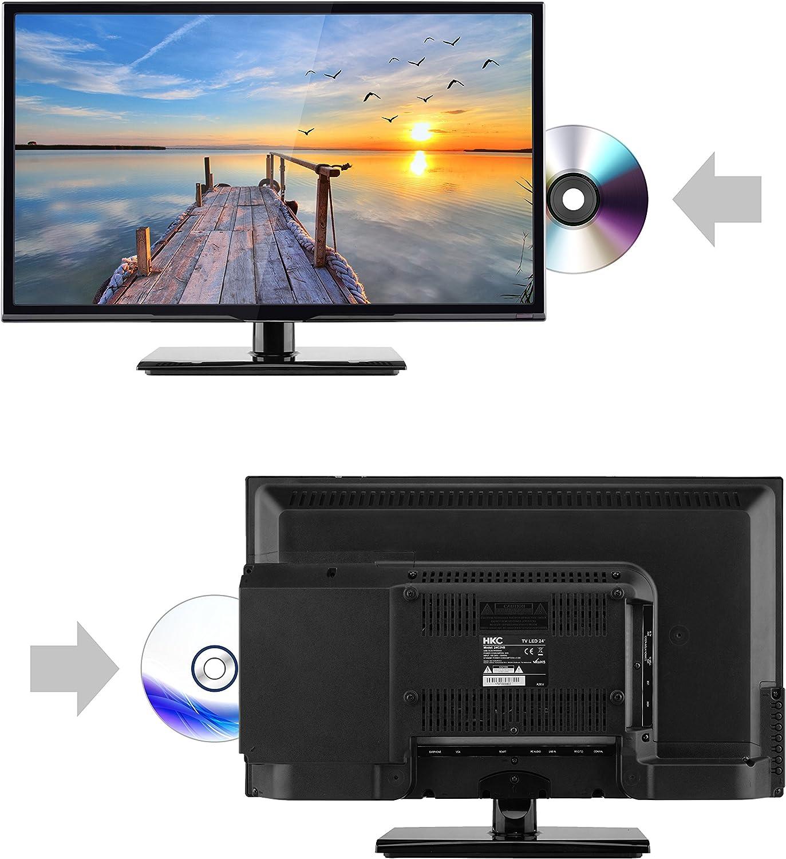 HKC 24C2NBD (24 Pulgadas) Televisor LED con Reproductor de DVD (HD ...