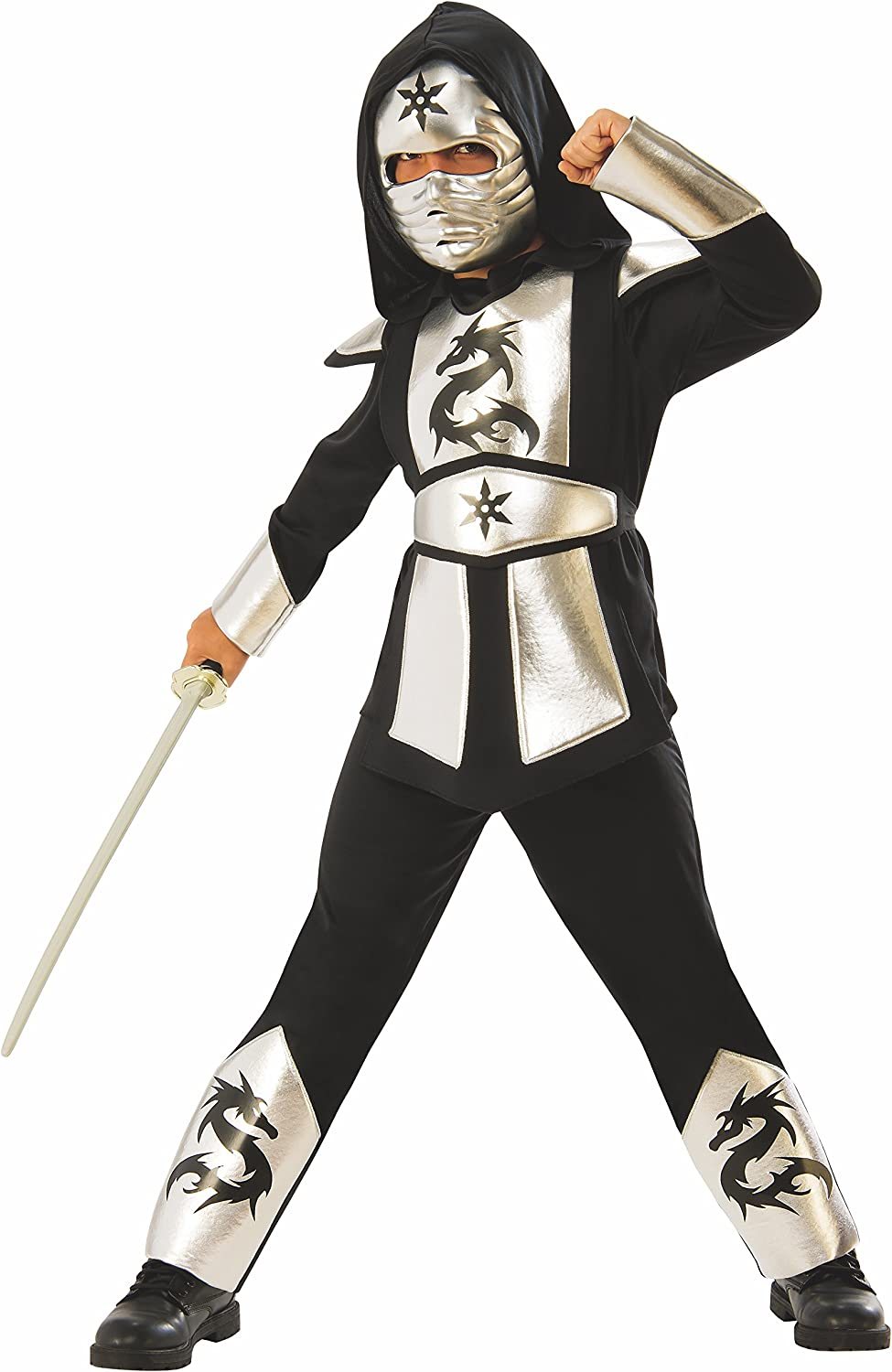 Silver Dragon Ninja Boys Costume