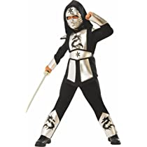 Rubies - Disfraz ninja dragon silver para niño, L 8-10 años (Rubies 641142-L)
