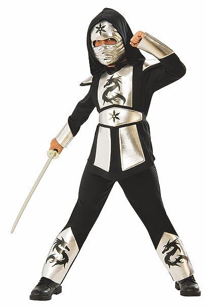 Amazon.com: Silver Dragon Ninja Boys Costume: Clothing